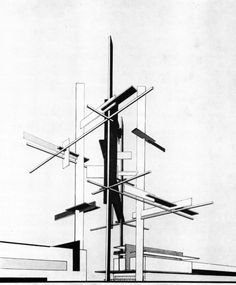 archiveofaffinities: Jean Gorin, Monumental Spatial Construction for The Entry of an Olympic Stadium, 1953