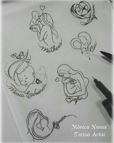 61 ideas tattoo ideas for kids names for moms sons tatoo Mommy Tattoos, Mutterschaft Tattoos, Tattoo Mama, Motherhood Tattoos, Tattoo For Son, Baby Tattoos, Family Tattoos, Tattoos For Kids, Tattoos For Daughters