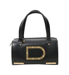 """Delvaux Black """"Astrid"""" Bag - DELVAUX - Labelcrush"""