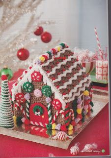 My Crochet , Mis Tejidos by Luna: Gingerbread House with the crochet Pattern/ Casita de Galletas de Gengibre Tejida con su Patron