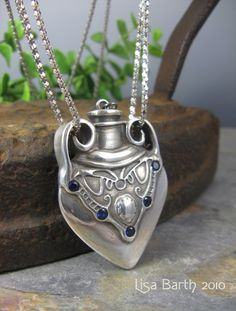 Love Potion #9, Metal Clay Bottle Pendant | JewelryLessons.com