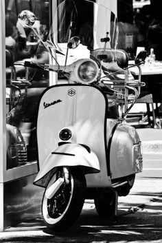 Black and white Photography - South of France - Vespa at the Cannes Film Festival, France 8x10 Photograph. $30.00, via Etsy.