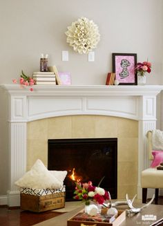 Simple with a bit of rustic charm, these Valentine's Day mantel decorations are inspired by Jane Austen's romantic and beloved novels.