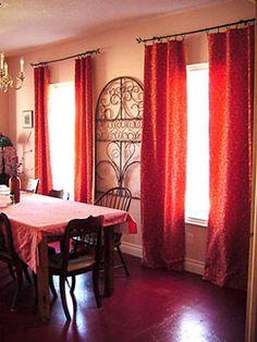 Cortinas com forro presas no varão com argolas de pressão - cortinas fáceis de fazer