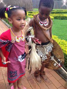 HRH Princess Temave & Prince Betive of Swaziland encwaleni