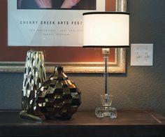 1940s Art Deco Crystal Lamp Boudoir Lamp / by FireflyVintageHome