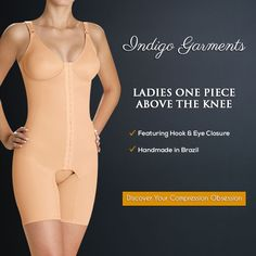 Our most popular abdominoplasty and liposuction recovery piece provides medical grade firm compression that extends throughout the abdomen, flanks and thighs. This one-piece is necessary to achieve the optimal result from your mommy make-over.  Shop now!!  www.indigogarments.io