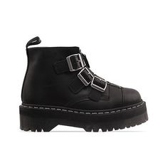 Agyness Deyn X Dr. Martens Aggy Strap (9.810 RUB) ❤ liked on Polyvore featuring shoes, boots, ankle booties, black, footwear, dr martens boots, black platform boots, platform booties, ankle strap booties and strappy boots