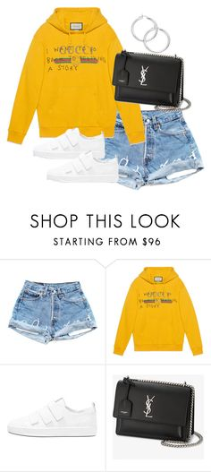 """""""Untitled #4390"""" by theeuropeancloset ❤ liked on Polyvore featuring Gucci and Yves Saint Laurent"""