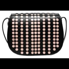NWT Tory Burch Polka Dot Bag Black polka dot bag. Saffiano leather. Comes with dust bag.  Strap is adjustable with buckle Tory Burch Bags Crossbody Bags