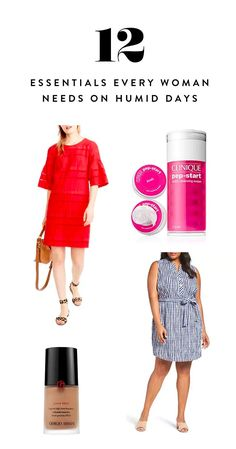 The 12 Essentials Every Woman Needs on Humid Days via @PureWow