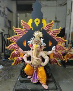 Jai Ganesh, Ganesh Lord, Ganesh Idol, Ganesha Art, Ganesha Pictures, Ganesh Images, Ganpati Decoration Design, Happy Ganesh Chaturthi Images, Sanskrit Language