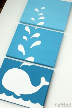 DIY whale artwork canvases: step-by-step - handicrafts unleashed Create your individual enjoyable DIY Str.Spectacular DIY whale artwork canvases: step-by-step - handicrafts unleashed Create your individual enjoyable DIY Str. Love Canvas, Kids Canvas, Canvas Wall Art, Painting For Kids, Diy Painting, Art For Kids, Art Diy, Diy Wall Art, Diy Canvas