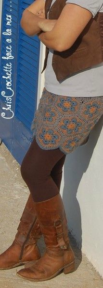 jupe african flower granny                                                                                                                                                      Plus