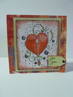 Greeting card made with rubber stamps that I designed