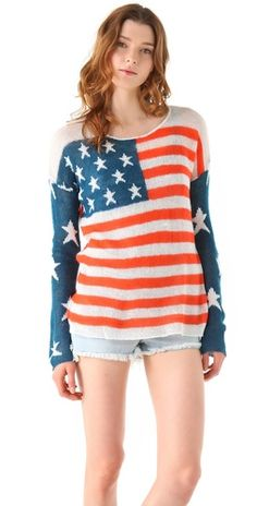 Wildfox Wildfox White Label Born On The Fourth Of July Billy Sweater