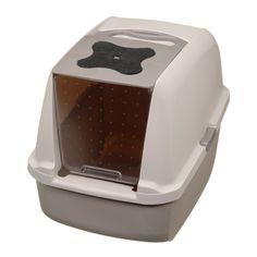 CATIT Katzentoilette mit klappbarer Abdeckung - Grau/Grau