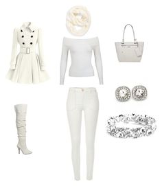 """A White Christmas"" by lacylace007 on Polyvore featuring River Island, Miss Selfridge, Nine West and Echo"
