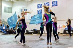 Texas Color Guard Circuit's competition, 2.8.14 Round Rock High School takes 1st place.