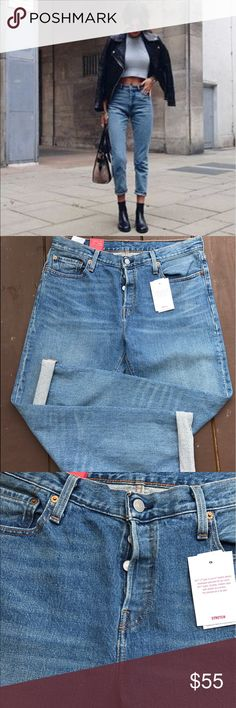 NEW Levi's 505 Stretch Jeans 29 Moms Jeans Tapered Brand new with tags. Size W29 L34, 501 CT Stretch. Button Fly.Customized & Tapered. Durable, Modern Style with stretch for comfort. The Ultimate do-it-all Jean. Levi's Jeans Straight Leg