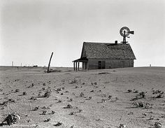 """Dorothea Lange   June, 1938    Library of Congress description:  """"Coldwater District, north of Dalhart, Texas. This house is occupied; most of the houses in this district have been abandoned."""""""