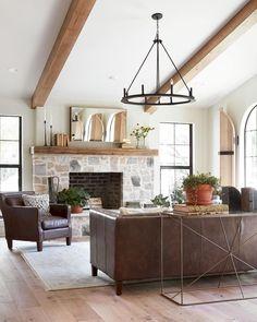 48 modern farmhouse living room decor ideas