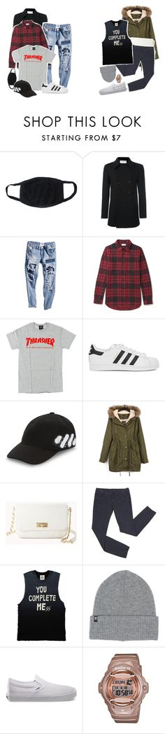 """:said outfits:"" by kwiatekmarek ❤ liked on Polyvore featuring Yves Saint Laurent, John Elliott, adidas Originals, Off-White, Forever 21, UNIF, Billabong, Vans and Baby-G"
