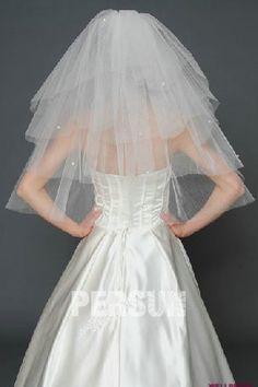 #Multi #Strati #Velo Nuziale Per #Sposa a Triangolo Italiano