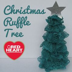 Christmas Ruffle Tree 2019 Try crafting with yarn this holiday season. Learn how to make this Christmas Ruffle Tree using Red Heart Yarns The post Christmas Ruffle Tree 2019 appeared first on Yarn ideas. Crochet Christmas Ornaments, Holiday Crochet, Christmas Crafts For Kids, Christmas Projects, Holiday Crafts, Christmas Holidays, Ruffle Yarn Projects, Sashay Yarn Projects, Crochet Crafts