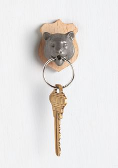Rawr Power to You Key Holder in Tiger. Hold the keys to eclectic style by adding this metal tiger keychain into the mix! #multi #modcloth
