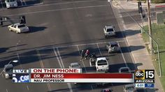 From CarBuyingTips.com, Brazen stolen truck suspect leads AZ police on wild chase, carjacks motorcyclist, fistfight, military guy fights him off, suspect later flips truck. https://www.youtube.com/watch?v=c54qXJmH7Oo #police   #policechase   #chase   #robbery