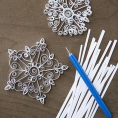 DIY Mini Quilled Snowflake Kit, $8.99 for the tool & supplies. Great gift idea!