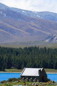 Church of The Good Shepherd, Lake Tekapo, New Zealand. Beautiful outdoors!