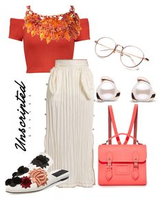 """""""Untitled #59"""" by unscriptedstyles on Polyvore featuring Alice + Olivia, Loewe, The Cambridge Satchel Company and Sanayi 313"""