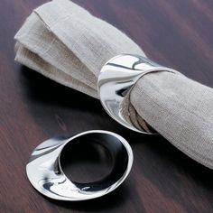 Mobius Sterling Silver Napkin Ring