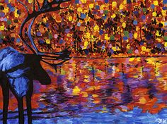 Forest Lake by Bramblitt - an incredibly gifted, blind artist who captures the colours and imagination of contemporary art to perfection.