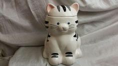 Vintage Cat Cookie Jar made in USA by Treasure Craft