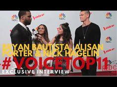 "Bryan Bautista, Alisan Porter & Nick Hagelin at ""The Voice"" Season 10 Top 11 #TeamXTINA #VoiceTop11 #TheVoice"