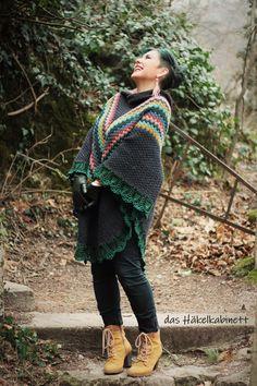 Hooded Scarf Pattern, Crochet Hooded Scarf, Crochet Poncho Patterns, Knitted Poncho, Knitted Shawls, Crochet For Kids, Free Crochet, Knit Crochet, Ravelry