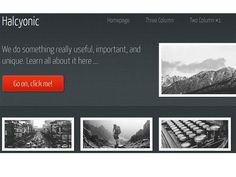 This is Halcyonic, a free HTML template by AJ for HTML5 UP. It's responsive, built on HTML5 + CSS3, and includes 5 unique page layouts.