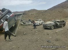 Lexus LX570 crashed in Kerman Iran