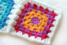 really nice, basic granny square tutorial. I think I'll be making these to make use of leftover yarn from other projects