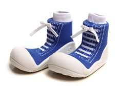 Attipas First Walker Shoes - Blue Sneaker by Baby Strawberry