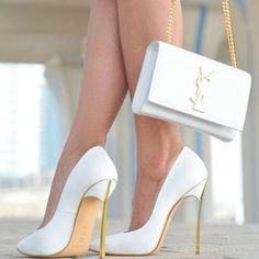 Lovely white YSL clutch