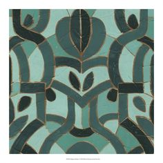 Giclee Print  Turquoise Mosaic I by June Erica Vess   231471b6c1