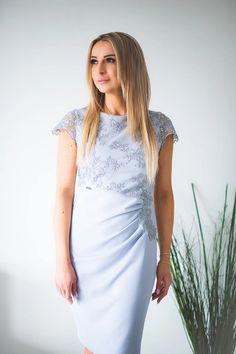 Cocktail dress model 131417 Jersa – Blushgreece.shop Elegant Dresses For Women, Shirt Dress, Spandex, Casual, Shirts, Shop, Products, Fashion, Colour Gray