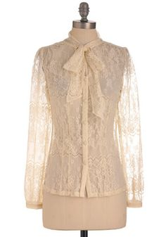 Coffee and Cream Top....vintage