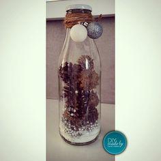 Xmas Milchflaschen Dekoration Weihnachten http://instagram.com/diy.carolin.weiland/
