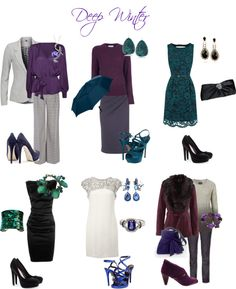 """Deep Winter looks"" by sabira-amira on Polyvore"