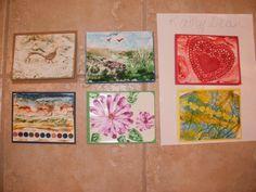 encaustic cards I gave a friend